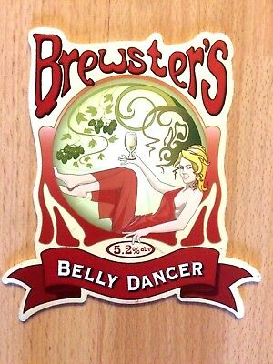 Belly Dancer Real Ale Beer Pump Clip: Brewsters Brewery Grantham Lincs NEW