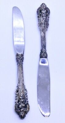Lot of 2 Wallace Grande Baroque 925 Sterling Silver 6-3/8 Hollow Butter Spreader