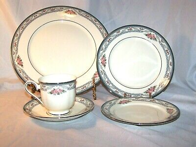 NEW 5 Piece Place Setting Lenox Country Romance Salad Dinner Plates Cup Saucer