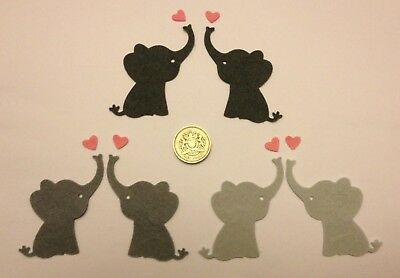 Metal Cutting Die D25 CUTE ELEPHANT With Heart Zoo Toy