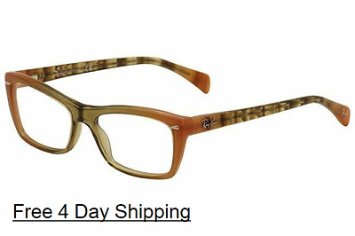 0ae73692d4201 New Authentic Ray ban Rectangle Eyeglasses RX5255 Gradient Brown Orange 5487  51