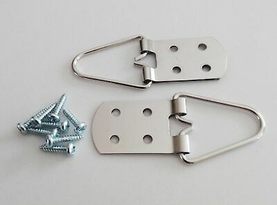 Heavy Duty 4 Hole Strap Hangers for Pictures & Mirrors - 4 Pack