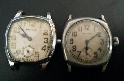 Two Rare Antique Waltham Wrist Watches Early 7 Jewel Movements!