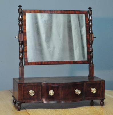 High Quality Antique Early Victorian Mahogany Dressing Mirror