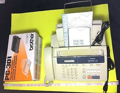 Brother Intellifax 770 ~ Home / Office Plain Paper Fax / Copy With 2 Cartridges
