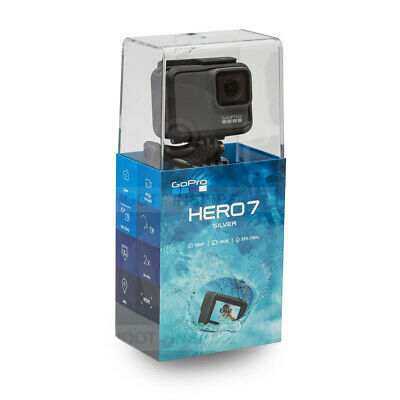 GoPro HERO7 HERO 7 Silver Waterproof Digital Action Camera 4K HD Video CHDHC-601