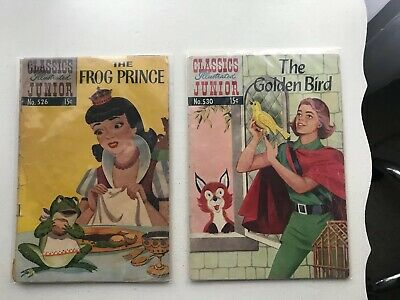 Lot Of 2 Classics Illustrated Jr:  The Frog Prince & The Golden Bird