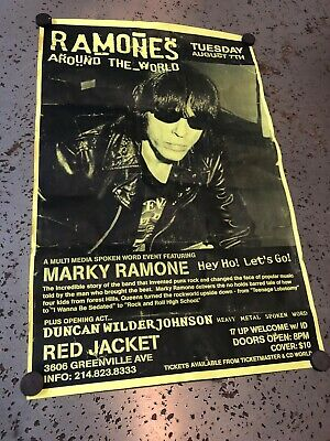 The Ramones Marky Ramone show poster Red Jacket Dallas, Tx