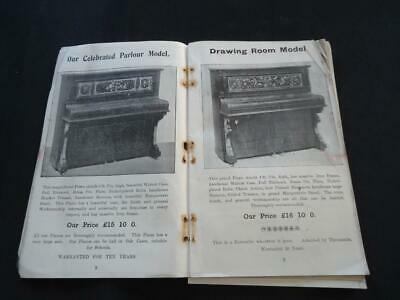 R PEAT ALFRETON MUSICAL INSTRUMENT CATALOGUE PIANO VIOLIN BANJO ACCORDIONS c1900