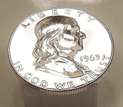 1963  Franklin   Choice  Proof   90%   Silver  >Coin  as  Pictured<  #120  17