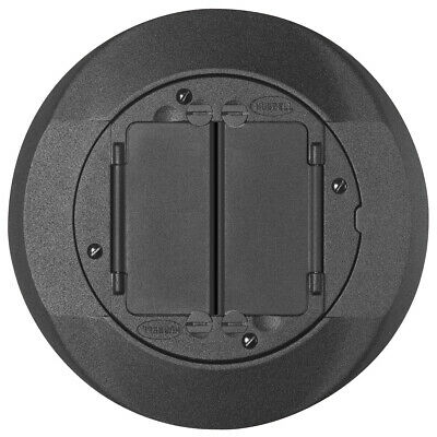Hubbell Systemone S1Cfcbl Black Carpet Flange Floor Receptacle Cover Plate / New