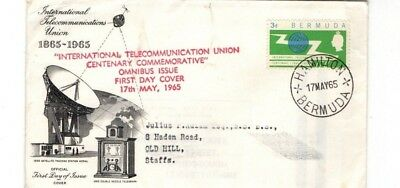1965 Bermuda -  Telecommunacation Union Omnibus Fdc From Collection 7/1