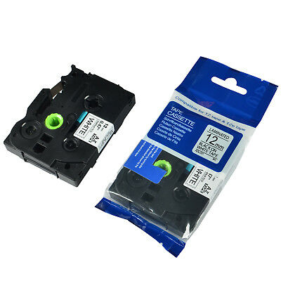 """1PK TZ-231 TZe-231 Black on White Label Tape For Brother P-Touch 12mm 1/2"""""""