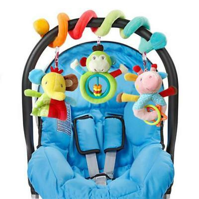 Baby Hanging Pushchair Crib Cot Rattles Spiral Stroller Bed Seat Toys 6A