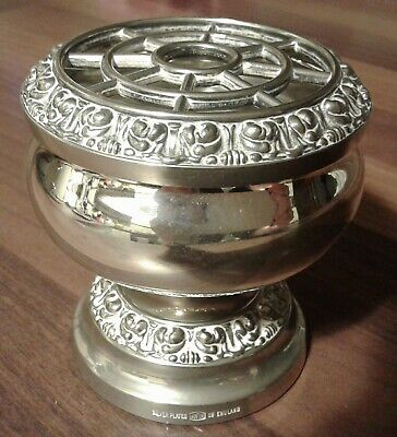 Small Vintage Ianthe Silver Plated Rose Bowl / Posy bowl