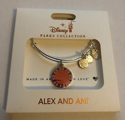 Disney Parks It's a Small World Charm Bangle Bracelet Alex & Ani Silver New