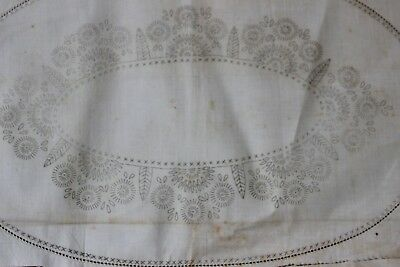 *Rare VTG Traced linen Exceptional - 3 Piece Set - Very, very old piece