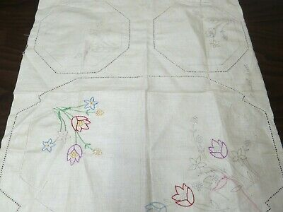 3 Partly Worked Vintage Doilies – Duchess Set – Traced linen