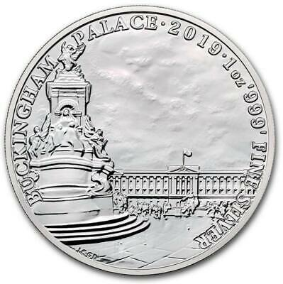 Great Britain 2019 Landmarks Buckingham Palace 0.999 1 Oz. Silver Coin Unc