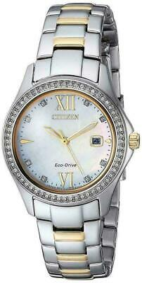 N1  Citizen Eco Drive Womens Quartz Stainless Steel Casual Watch FE1144-85B
