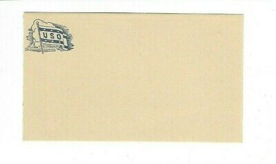 Old, WWII USO Postcard, unused