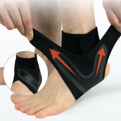 Ankle Support Brace Foot Sprains Injury Pain Care Wrap Adjustable Protect Guard