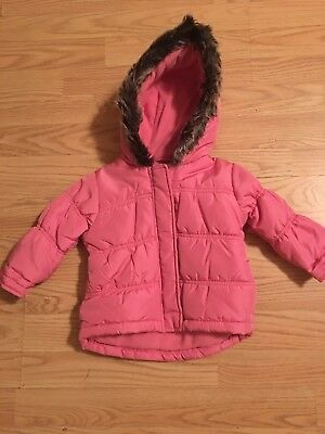 0cc319f9e010 ZARA BABY GIRL Puffer Jacket With Hood Hot Pink Outerwear Coat Size ...