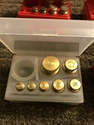 4 Ohaus Brass Mass Sets Of 8 Metric Weight 1 Gram To 50 Gram 241-03