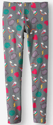 Wonder Nation leggings NWT girls' 14 16 gray rainbow unicorn LOL heart YAY star