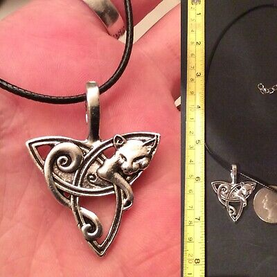 (3D) Celtic/irish Knot Cat Pendant & Necklace + Other Necklace Choices..free