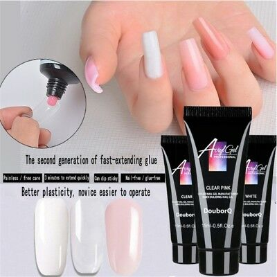 Poly UV Acryl Nail Gel Quick Building Extension Camouflage LED Hard Builder Gel