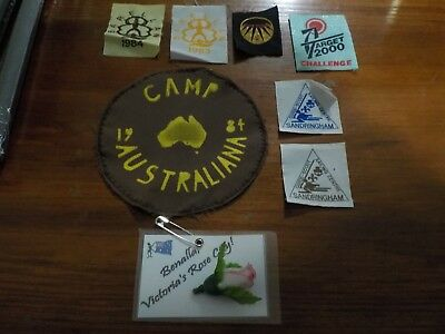 Girl Guide Patches - 1983/1984, 2000, Hume & Benalla Rose City & Sandringham