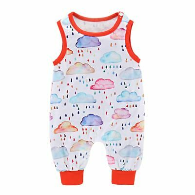 Outfits Jumpsuit Raindrops Print Romper Rainbow Clouds Newborn Baby Clothes