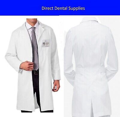 Unisex Lab Coat Medical Vet Doctor Scientist Uniform