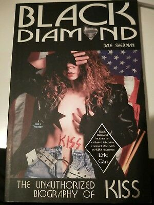 Kiss Black Diamond soft cover book with interview disc of Eric Carr