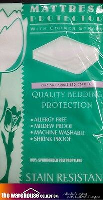 Set of 2* KING-SINGLE THREE QUARTER MATTRESS PROTECTOR STAIN RESIST STRAPPED