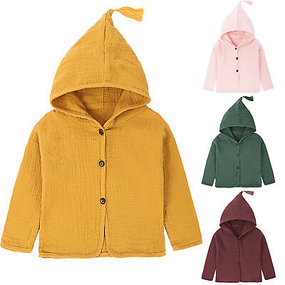 4180893ea KIDS TODDLER BABY Girls Winter Trench Coat Jacket Outerwear ...