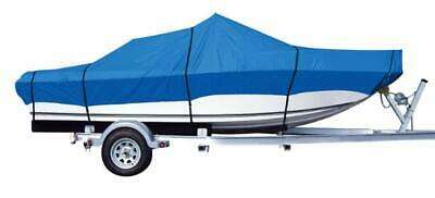 Trailerable Boat Cover Fits V-HULL Fishing Boat,12ft-14ft long,68in Width,Blue