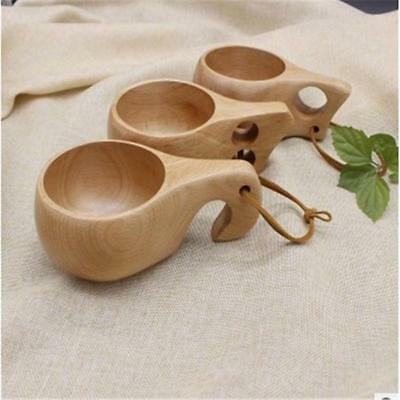 Natural Solid Wooden Cup Wood Cup Wooden Outdoor Coffee Mug Drinking Cup Tea B