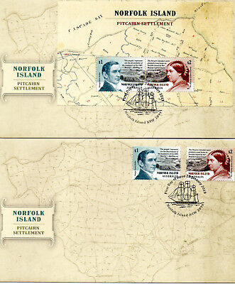 2019 AUSTRALIA Norfolk Island Pitcairn Settlement Lot of 2 FDC covers (lot 2)