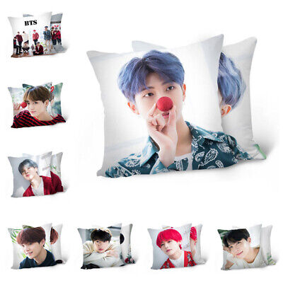 KPOP BTS Pillow Case Bangtan Boys Double-Sided Love Yourself Pillow Cover Gift