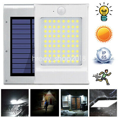 72 LED Solar Powered PIR Motion Sensor Security Wall Light Lamp Garden Outdoor