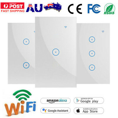 1/2/3 Gang WIFI Touch Smart Home Automation Wall Switch for Google Home Alexa