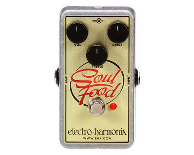 Electro Harmonix Soul Food Overdrive Pedal FX Effects Guitar EHX SOULFOOD New