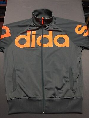 2a415284a039e ADIDAS VTG JACKET M Red Spell Out Full Zip Nylon Hooded Windbreaker ...