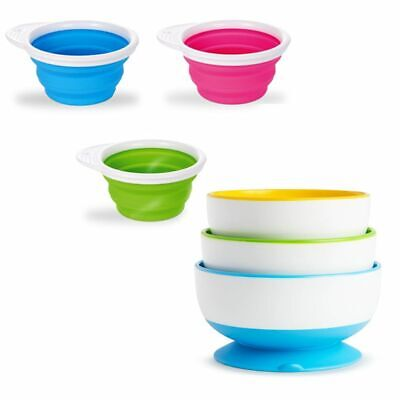 Munchkin Baby Newborn Toddler Go Bowl  Stay Put Suction Bowls Dishes Feeding