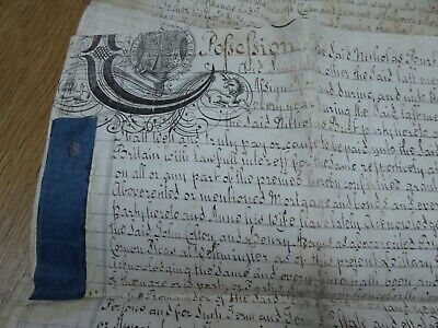 1743 King George III Reign Mortgage 1000 Years Vellum Indenture Manuscript Ref#7