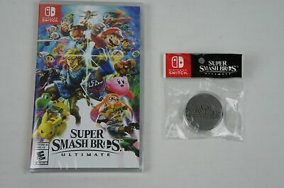 SUPER SMASH BROS. ULTIMATE (Nintendo Switch, 2018) WITH COLLECTOR COIN BRAND NEW