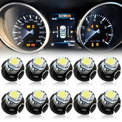 10Pcs T3 SMD Led Neo Wedge Car Dash Gauge Instrument Cluster Bulbs Light WhiteMC
