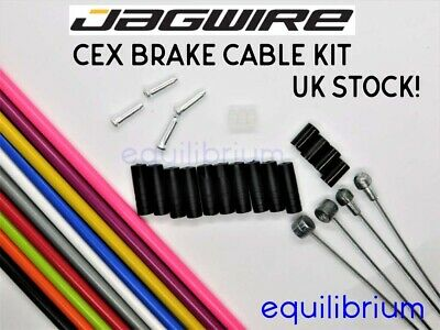 Jagwire Complete Set Brake Front + Rear Inner And Outer Cable Kit Repair Colours